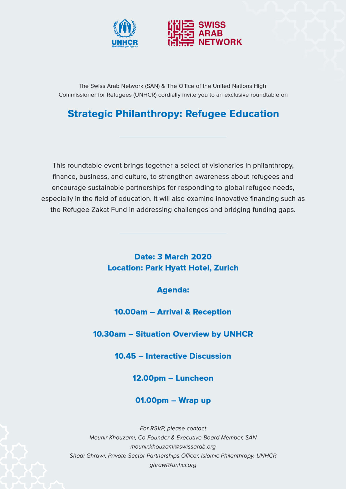 SANxUNHCR Roundtable